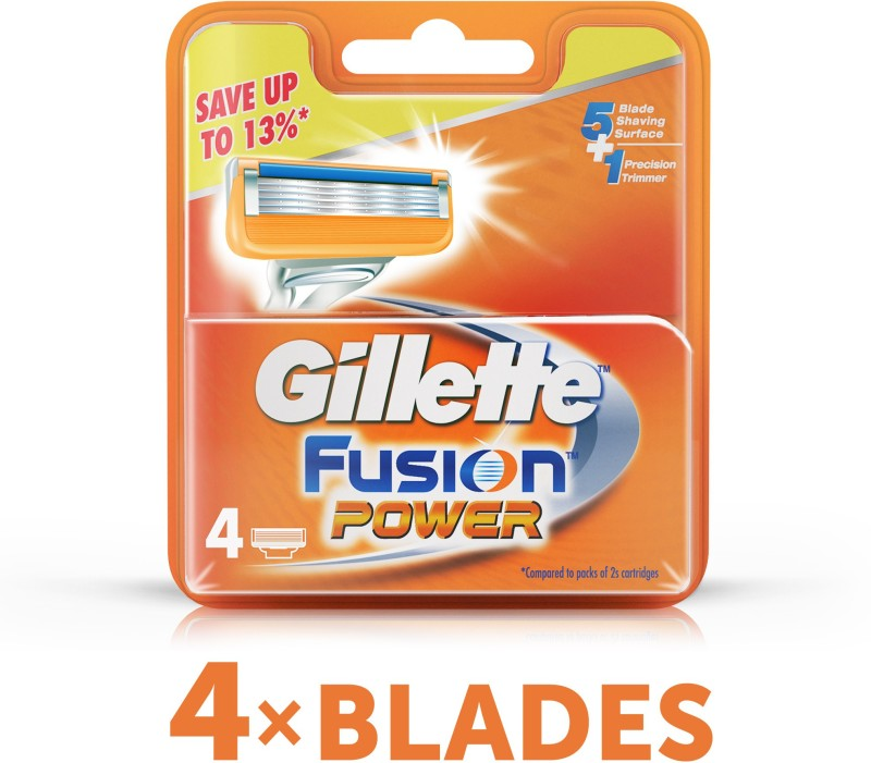 Gillette Fusion Power Cartridges(Pack of 4)