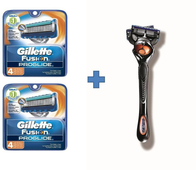 Gillette Fusion Proglide Proglide 4'sCartridge combo(Pack of 2)