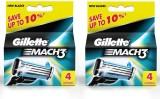 Gillette Mach 3 Pack Of 2 (4 Cartridges)...