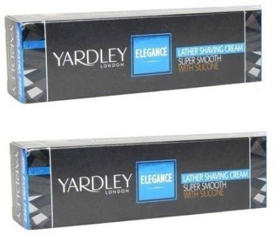 Yardley London Elegance Lather Shaving Cream with Aloe Vera Set of 2(70 g)