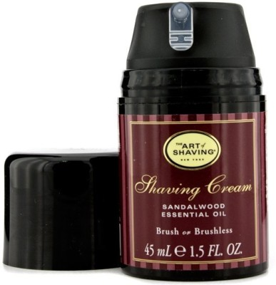 The Art Of Shaving Shaving Cream - Sandalwood Essential Oil (Travel Size, Pump)(45 ml)