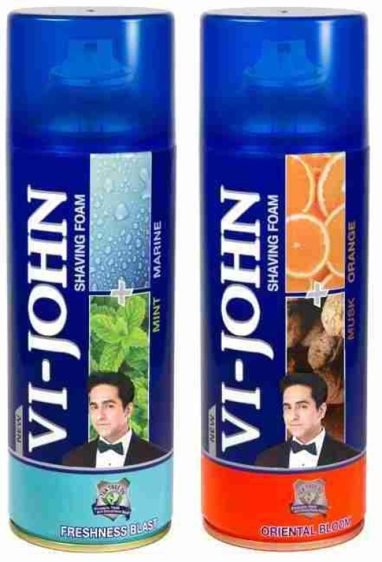 Vi-John Shave Foam Mint Marine & Musk Orange(800 g)