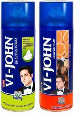 Vi-John Shave Foam Sensitive & Musk Orange(800 g)
