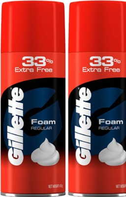 gillette Regular Shaving Foam( Pack Of 2)