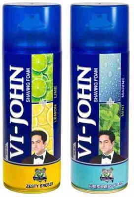Vi-John Shave Foam Lemon Lime & Mint Marine(800 g)