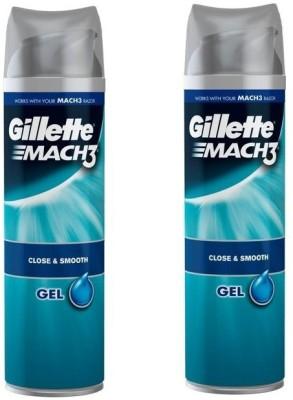 gillette Mach3 Close & Smooth Shave Gel ( pack of 2 )