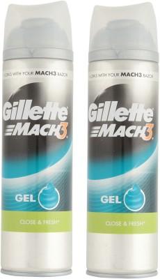 gillette Mach3 Close & Fresh Shave Gel ( pack of 2 )