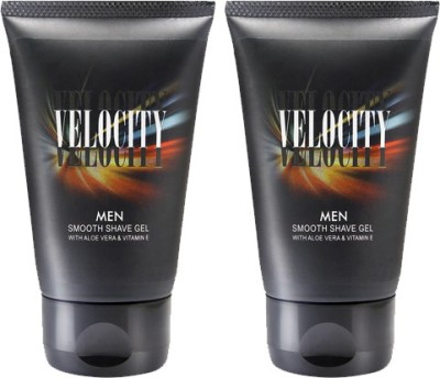 Velocity Men Smooth Shave Gel - 50 gms x 2