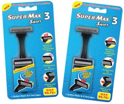 Supermax Swift 3 Razor with 5 cartridge Razor