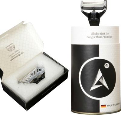 Ameego 5 Blade German Razor for Sensitive Skin Razor(2 Blades)