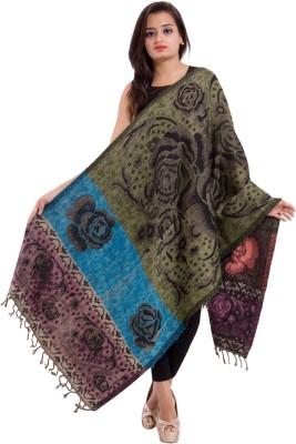 Shiva Wool Floral Print Women's Shawl
