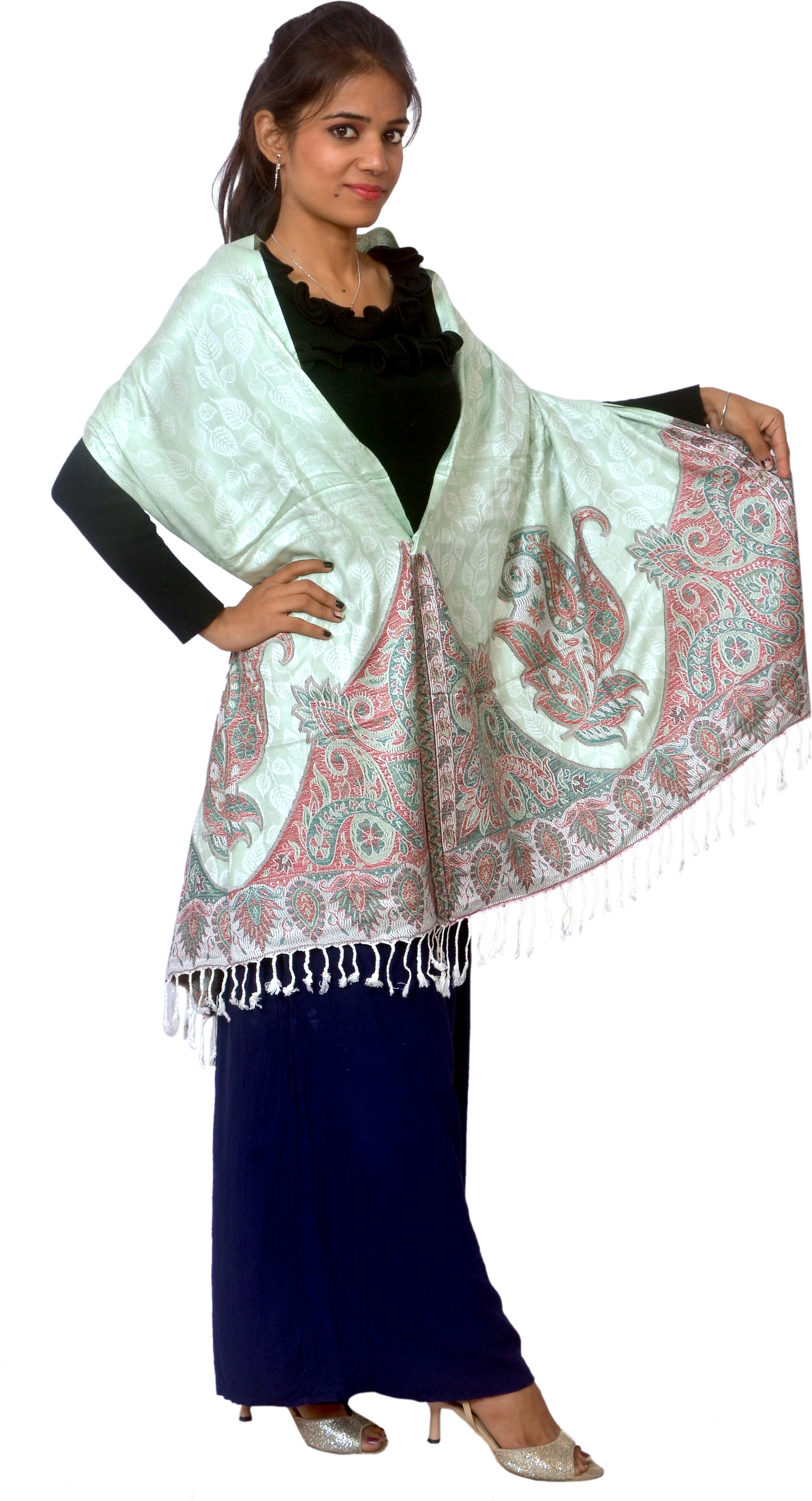 Cloud9Emporio Sat0044 Viscose Floral Print Womens Shawl