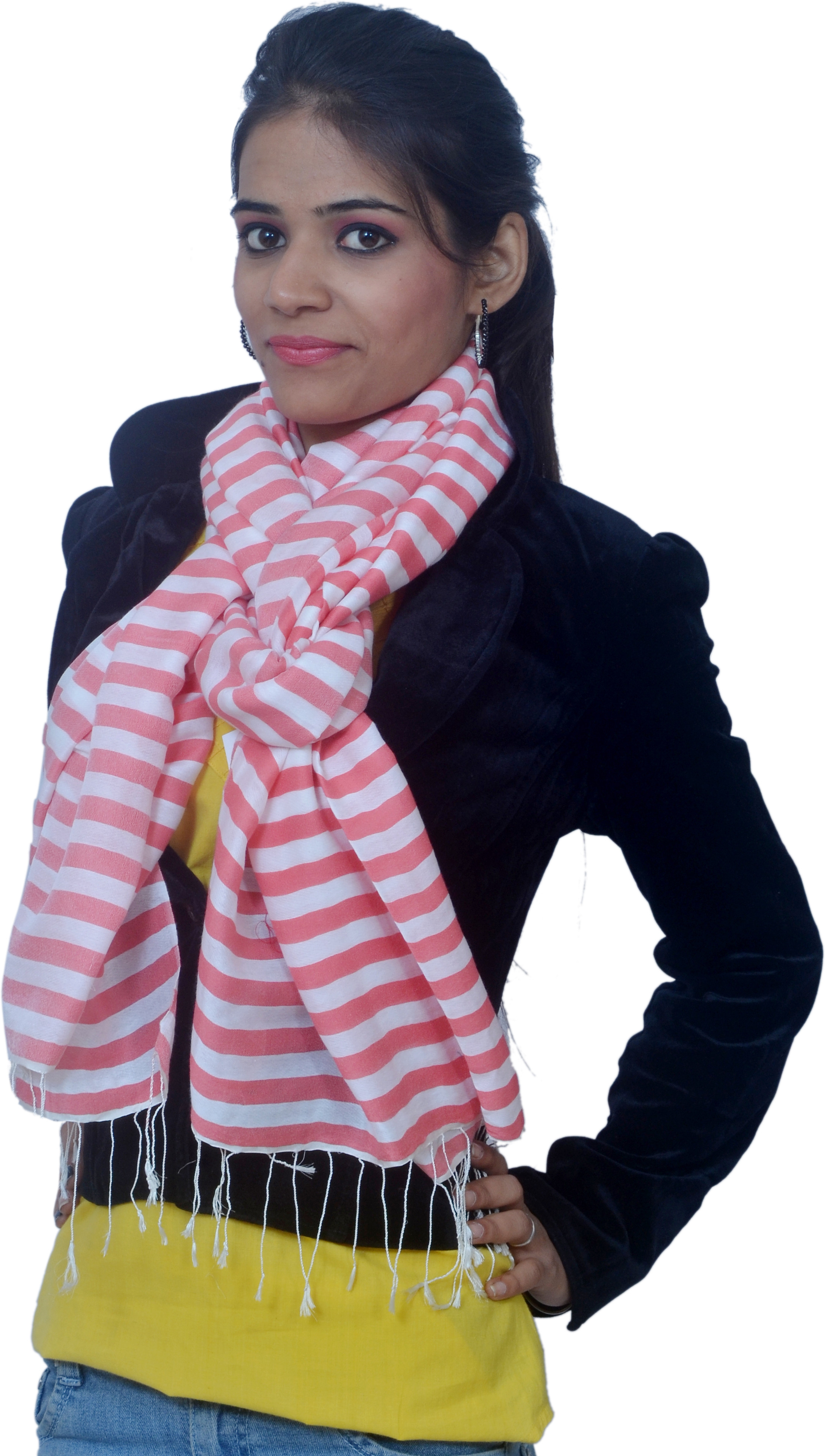 Cloud9Emporio sat00024 Wool Striped Womens Shawl