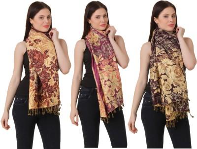 RoseBella Wool Woven Women's Shawl