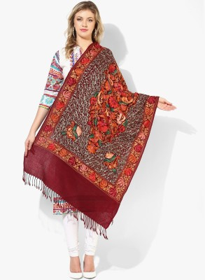 TRICON Wool Embroidered Women's Shawl