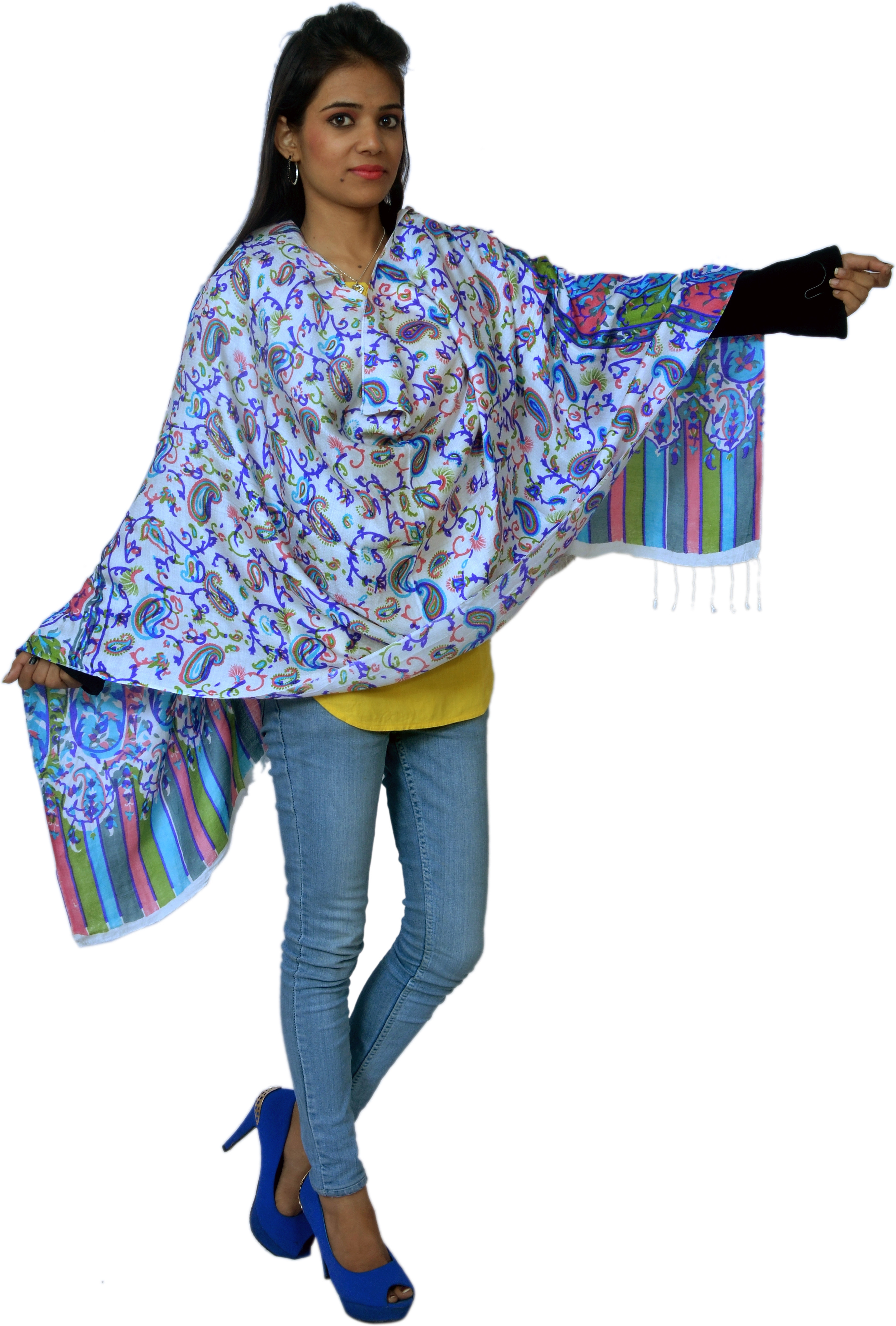 Cloud9Emporio SAT000026 Wool Graphic Print Womens Shawl