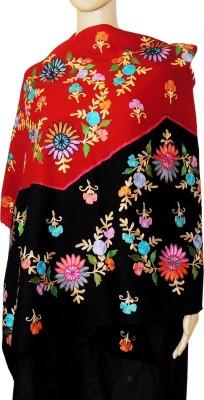 Indian Fashion Guru BO-44A-0010woolen shawl Wool Embroidered Women's Shawl
