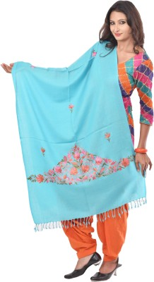 Weavers Villa Wool Embroidered Womens Shawl