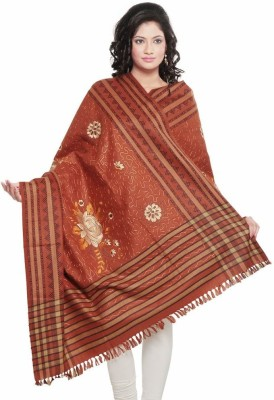 Indiangiftemporium Wool Embroidered Women's Shawl