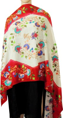 Indian Fashion Guru BO-44A-0003woolen shawl Wool Embroidered Women's Shawl