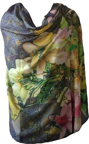 Vostro Viscose Floral Print Womens Shawl