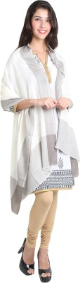 Kashmina Wool Self Design Women's Shawl