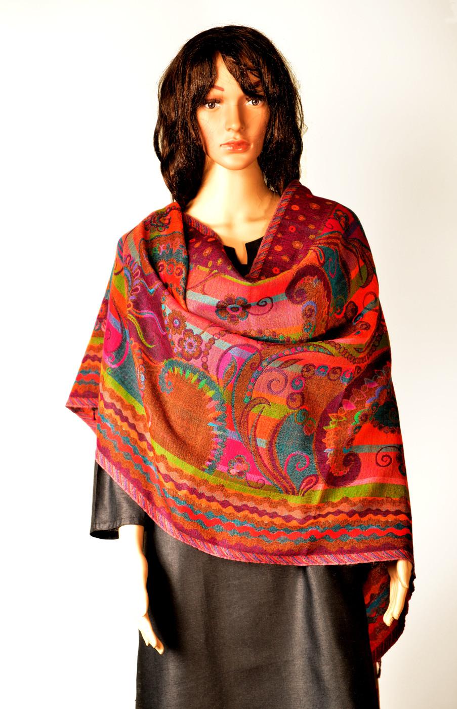 Kinari 06-C Pashmina Checkered Womens Shawl