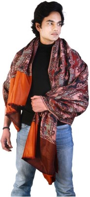 Home India Floral Design Pure 204 Wool Printed Men,s Shawl