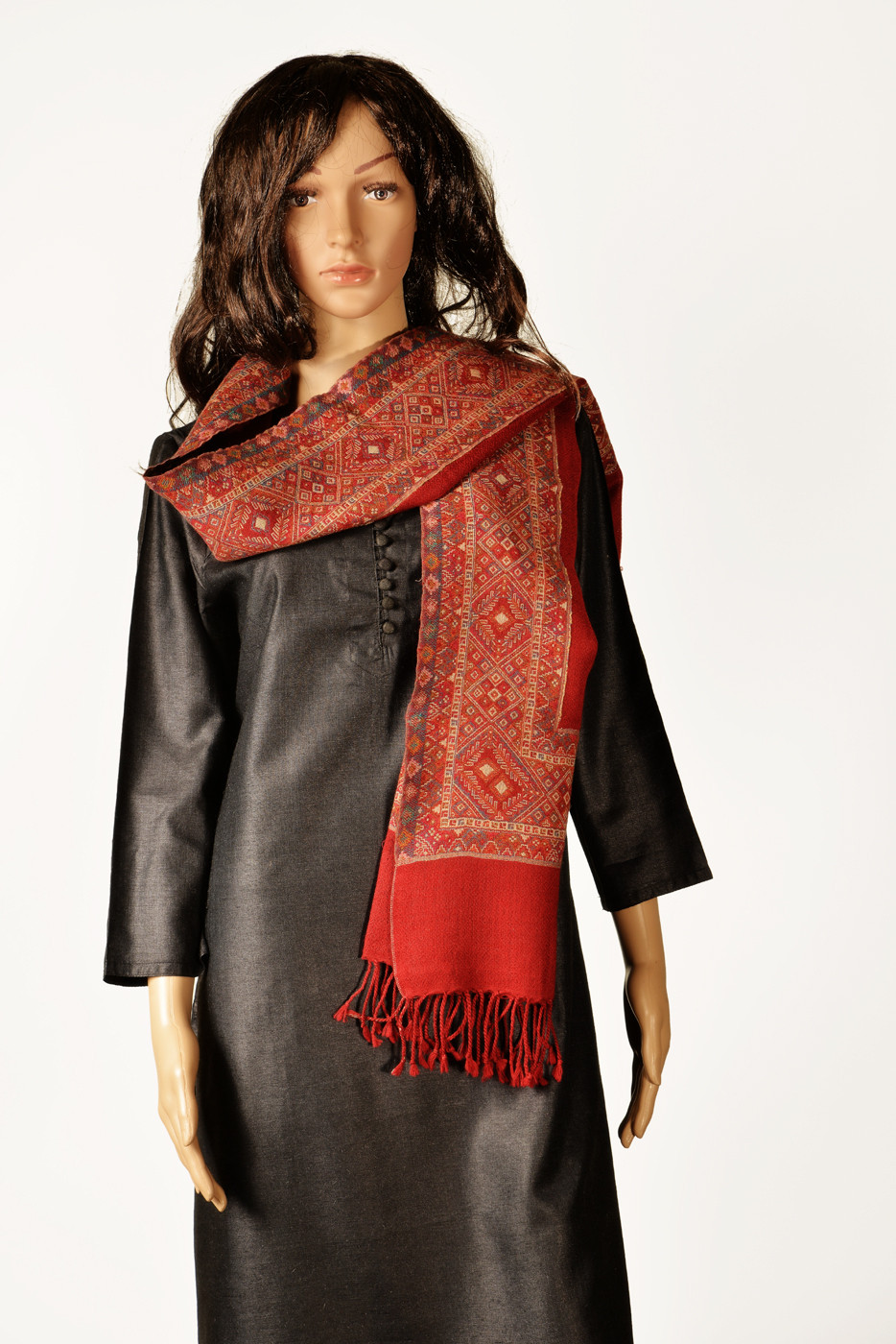 Kinari 04-C Pashmina Self Design Womens Shawl