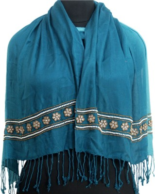 VR Designers Viscose Embroidered Womens Shawl