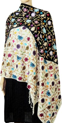 Indian Fashion Guru BO-44A-0013woolen shawl Wool Embroidered Women's Shawl