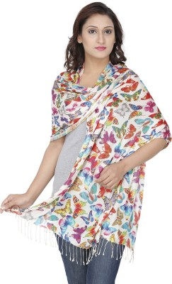 Royal Kashmir Wool Floral Print Women's Shawl