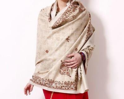 Weavers Villa Poly Cotton Printed Womens Shawl