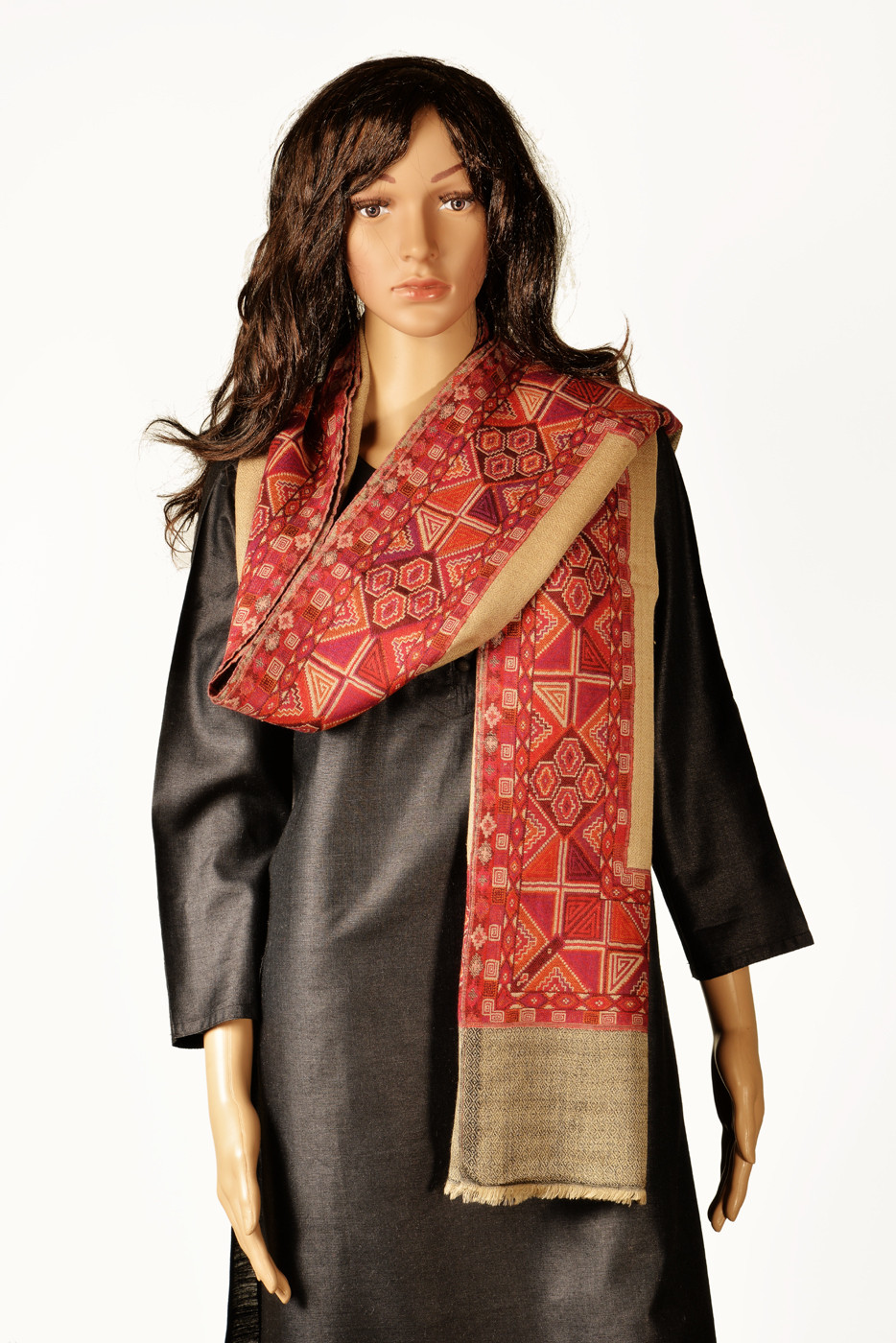 Kinari 05-D Pashmina Self Design Womens Shawl