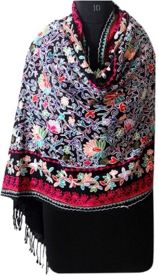 Forever 18 Wool Embroidered Women's Shawl