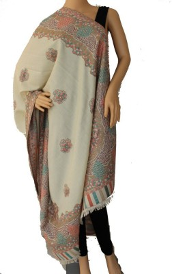 Matelco Polyester, Acrylic Embroidered Women,s Shawl
