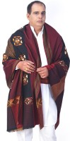Little India Wool Self Design Mens Shawl