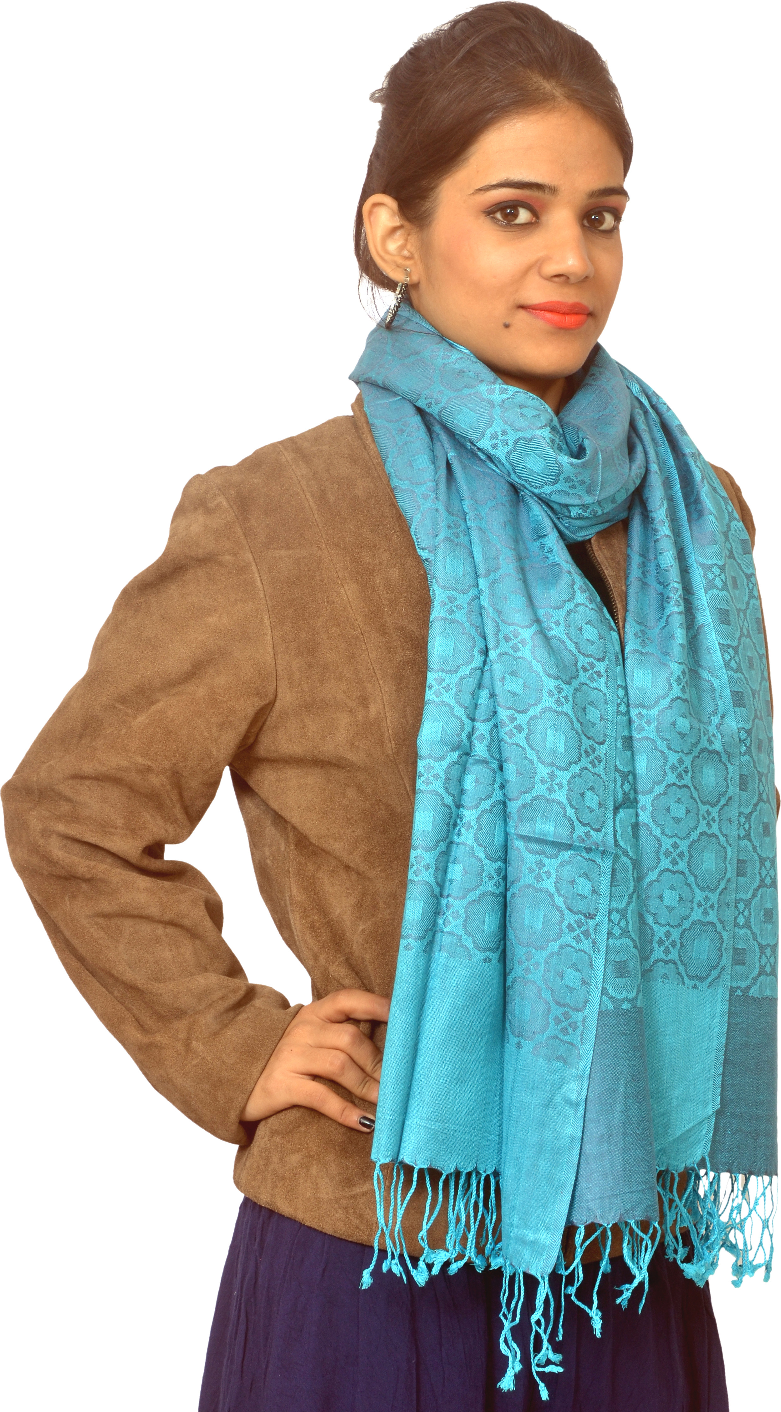 Cloud9Emporio Sat000049 Viscose Geometric Print Womens Shawl
