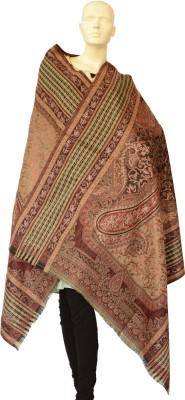 Jupi Pashmina, Wool Floral Print, Paisley, Striped, Checkered Women's Shawl