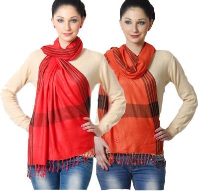Aaanimation Viscose Striped Women's Shawl