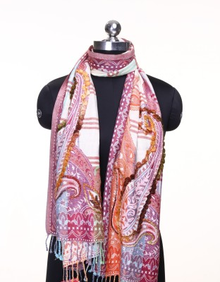 Kd Stoles N Scarfs Generic Embroidered Women's Shawl