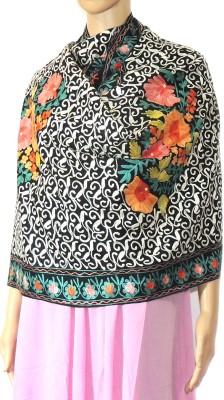Indian Fashion Guru Designer woolen Embroidery Wool Embroidered Women's Shawl