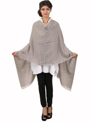 Kashmina Wool Checkered Women's Shawl