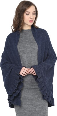 Pluchi Wool Solid Women's Shawl
