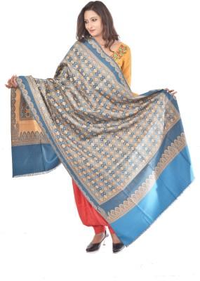 Weavers Villa Polyester Wool Blend Woven Womens Shawl