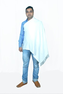 Royal-E-Kashmir Wool Solid Mens Shawl