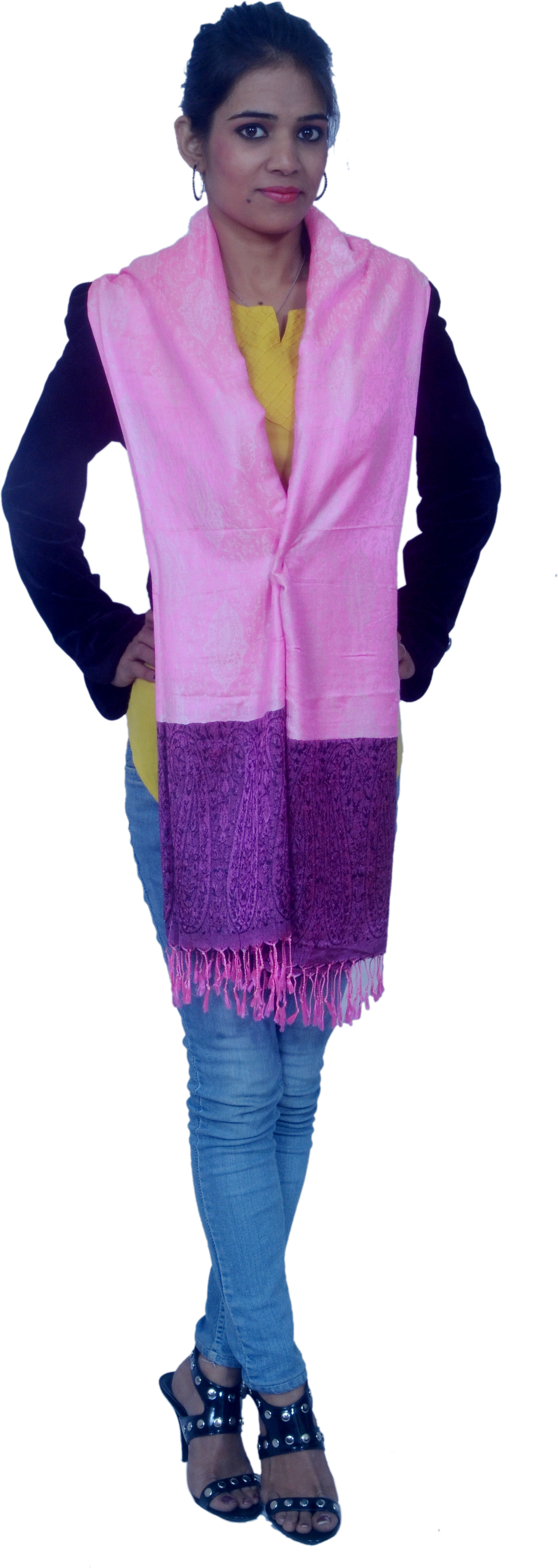 Cloud9Emporio sat00022 Viscose Self Design Womens Shawl