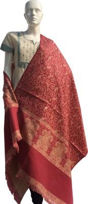 Jupi Wool, Pashmina Embellished, Floral Print, Self Design Women's Shawl