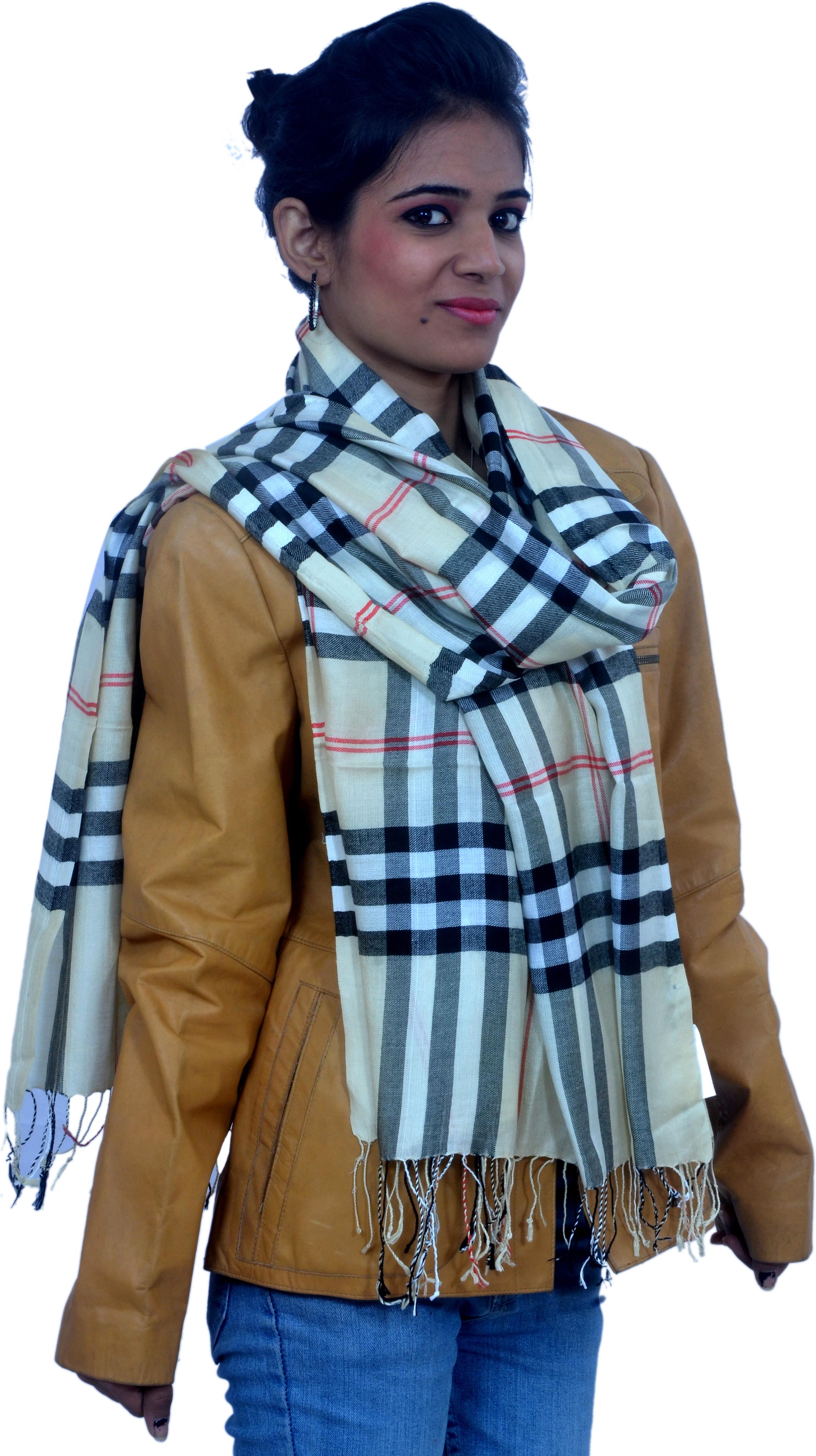 Cloud9Emporio sat00016 Viscose Striped Womens Shawl