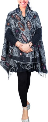 Super Drool Wool Floral Print Women's Shawl